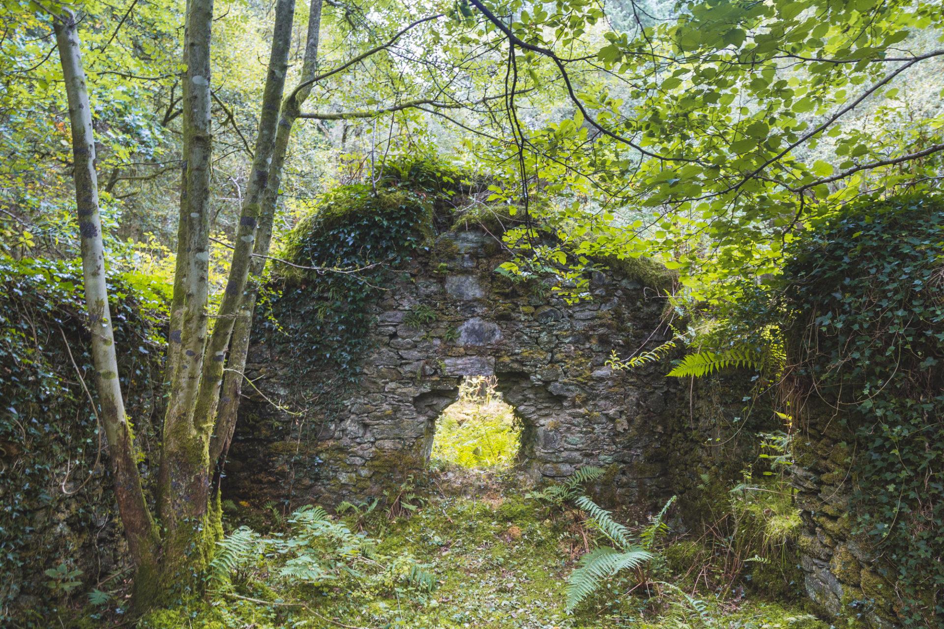 Ruinen in der Nähe der Rowchoish Bothy
