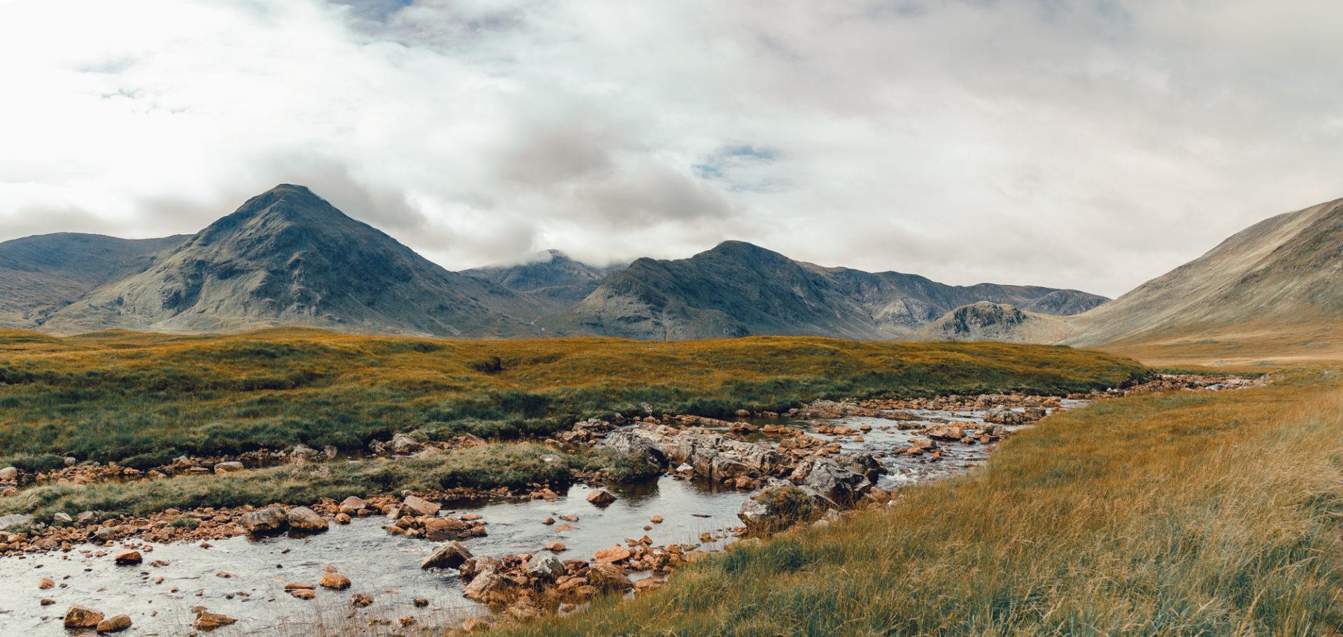 Fluß am Rand des Rannoch Moors