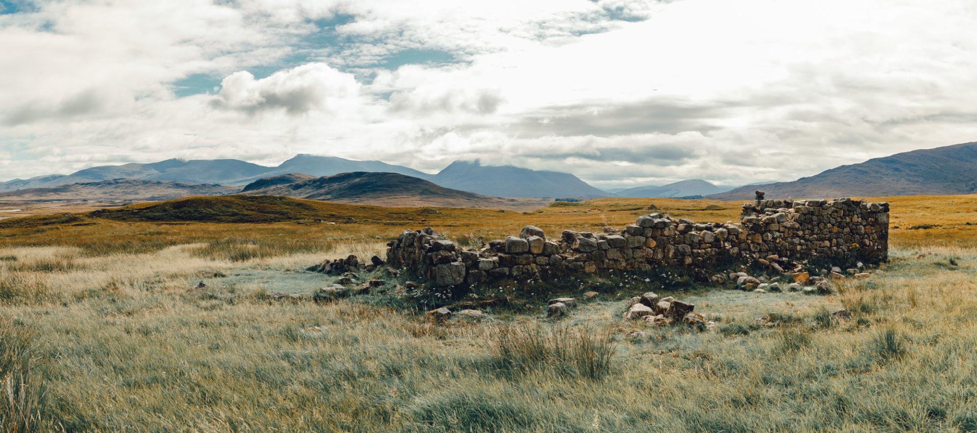 Ba Cottage am Rande des Rannoch Moors